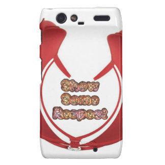 Retro Red Hakuna Matata Gifts show some respect.pn Motorola Droid RAZR Case