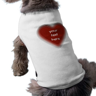 Retro red heart dog shirt for your text