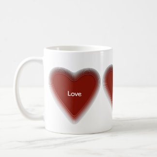 Retro red heart mug for your text