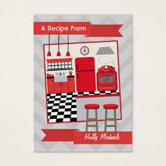 Retro Red Kitchen Recipe Cards