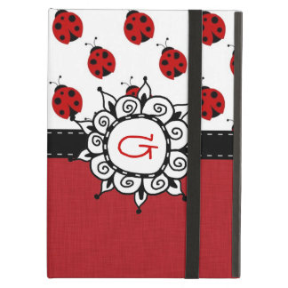 Retro Red Ladybug Custom Personalized Case For iPad Air