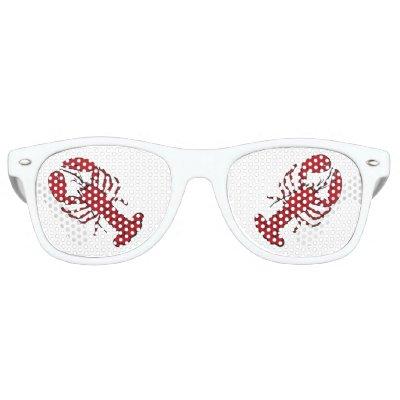 Retro red  lobster rockabilly sunglasses