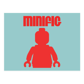 Retro Red Minifig by Customize My Minifig Postcard