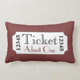 Retro Red Movie Ticket Cinema Pillow