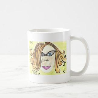 retro red coffee mugs