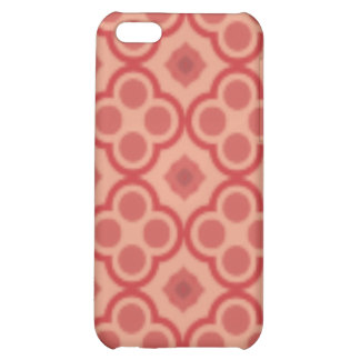 Retro Red Pattern Cover iPhone 5C Cover