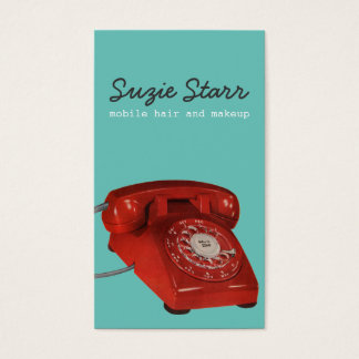 Retro Red Phone Business and Appointment Card