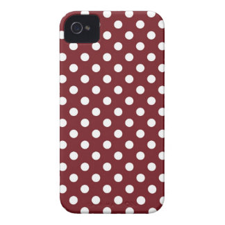 Retro Red Polka Dot Iphone 4/4S Case iPhone 4 Case