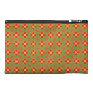 Retro Red Poppies, Polka Dots Accessories Bag
