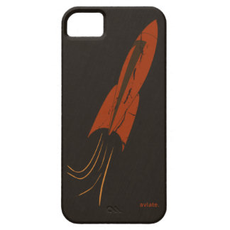 Retro Red Rocket iPhone 5 Case by aviate.