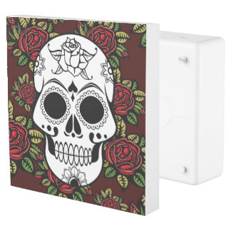 retro red roses skull Plug INLET  Faceplate Outlet Cover