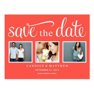 RETRO RED | SAVE THE DATE ANNOUNCEMENT POSTCARD