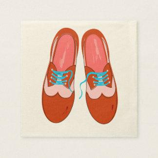 Retro Red Shoes Paper Napkins