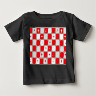 Retro Red Starbursts Baby T-Shirt