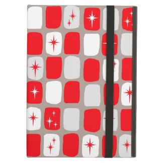 Retro Red Starbursts iPad Case
