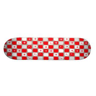 Retro Red Starbursts Skateboard