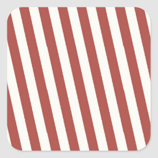 Retro Red Striped Pattern Stickers