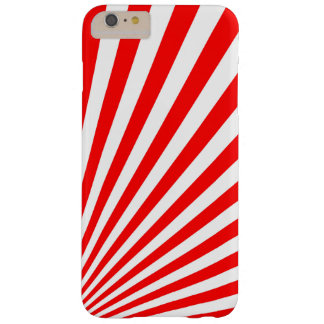 Retro Red Sun Rays Background Barely There iPhone 6 Plus Case