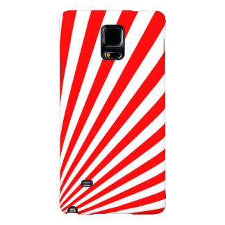 Retro Red Sun Rays Background Galaxy Note 4 Case
