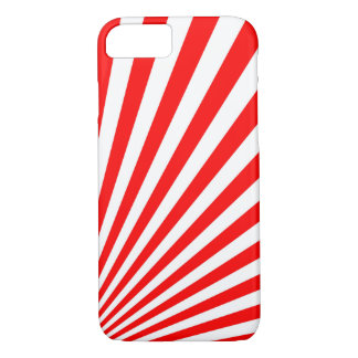 Retro Red Sun Rays Background iPhone 8/7 Case