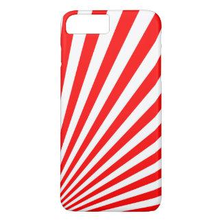 Retro Red Sun Rays Background iPhone 8 Plus/7 Plus Case