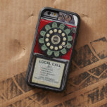 Retro Red Toughie iphone Cover Tough Xtreme iPhone 6 Case