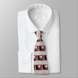 Retro Red Tv Tie