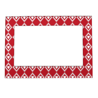 Retro Red Valentine Heart Pattern Magnetic Picture Frame
