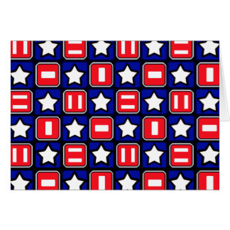 Retro Red White & Blue Greeting Cards