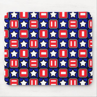 Retro Red White & Blue Mouse Pad