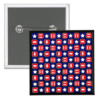 Retro Red White & Blue Pinback Buttons