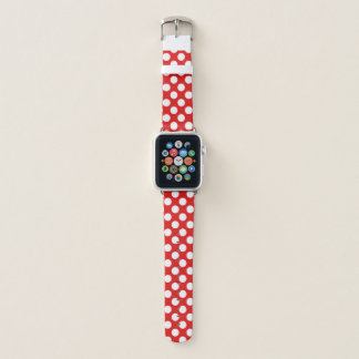 Retro Red White Polka Dots Apple Watch Band