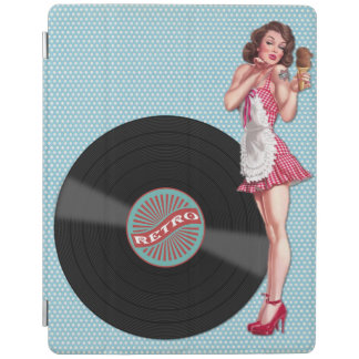 Retro Redhead Pin-up Girl iPad Smart Cover