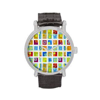 Retro - reloj geométrico de las formas
