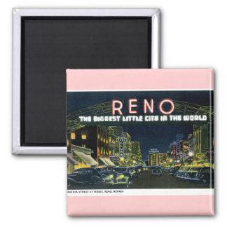 Retro Reno Fridge Magnet