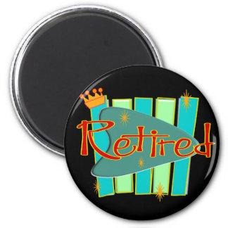 RETRO RETIRED Gifts 2 Inch Round Magnet
