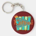 RETRO RETIRED Gifts Keychains