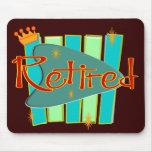 RETRO RETIRED Gifts Mousepad