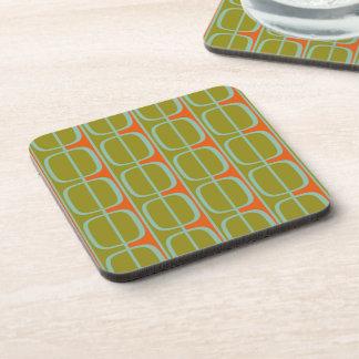 Retro Retro Squares and Stripes Cork Coasters
