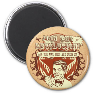 Retro Revolution Fridge Magnet