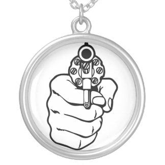 Retro Revolver Necklace