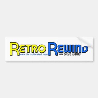 RETRO REWIND Bumper Sticker