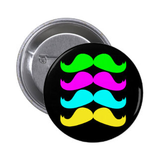 Retro RGB Fluo Moustaches Button
