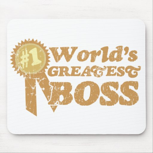 Retro Ribbon Great Boss Mousepad