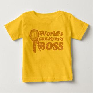 Retro Ribbon World's Greatest Boss... Baby T-Shirt