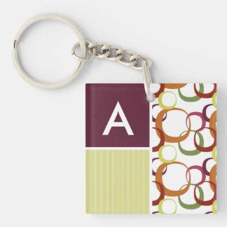 Retro Rings Pattern Acrylic Key Chains