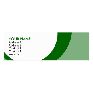 retro rings : S : greens Business Cards