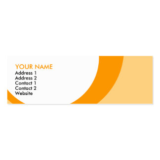 retro rings : S : oranges Business Card Template
