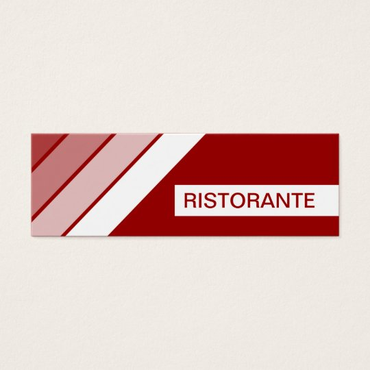 retro RISTORANTE Mini Business Card