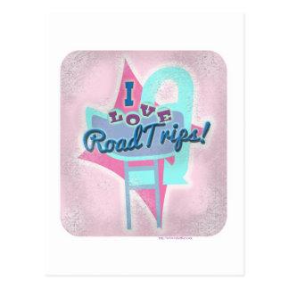 Retro Roadtrip Love Postcard